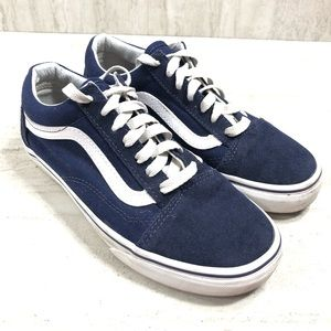 Vans Blue and White Old Skool Sneakers